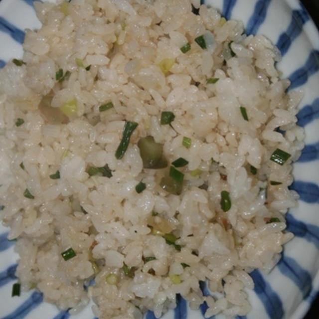 9月8日  W葱と ザーサイの炒飯