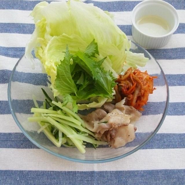 野菜たっぷり肉キムチ巻き