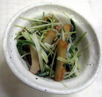 水菜のマヨぽん炒め