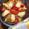 トースターで簡単! 秋鮭と無花果のとろーりコンテチーズ焼き