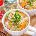 放ったらかしで5分♪ 白菜と豚肉の中華春雨スープ♡