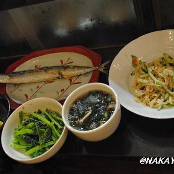 切干大根とツナのサラダと、じぃじが来たよ!