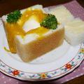 <パンDEかぼちゃのスープココット>と塀のぼりミィーちゃん♪ by はーい♪にゃん太のママさん