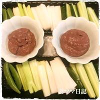 ホタルイカのディップ&薄餅ディナー♪ Squid Pate with vegetable