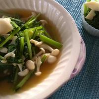 お弁当や朝食に!簡単ブナピーと小松菜のバターポン酢炒め。