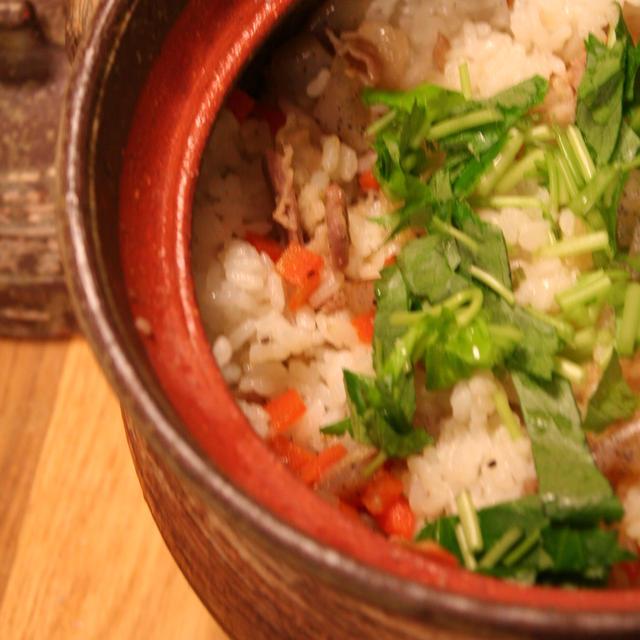 ★土鍋で「沖縄ジューシー」
