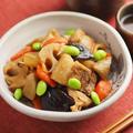 メシ通!筋肉料理人の「豚バラと秋の根菜の煮物」