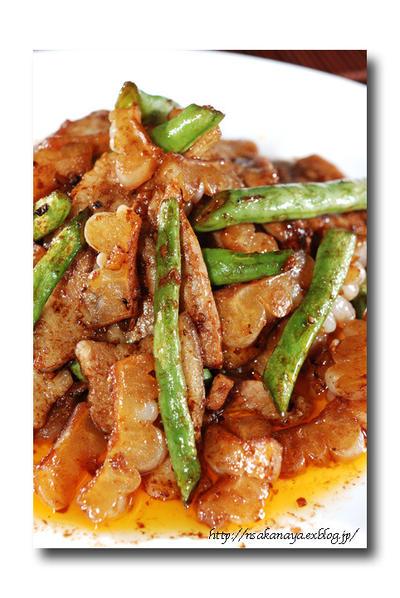 白ゴーヤ と 豚バラ肉 の 中華風味噌炒め