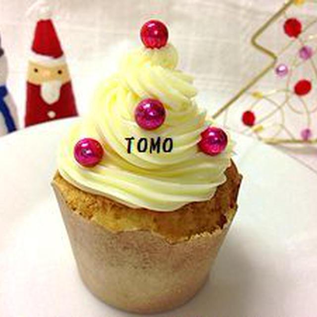 クリスマスに♪ツリーカップケーキ