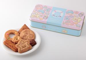 ソラカラちゃん達やキキ&ララ、お菓子の絵が描かれた可愛いオリジナル缶!<br>食べ終わった後は、シー...