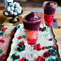 赤ワインをぐっとデザート感覚で。 ブドウと赤ワインのアイスカクテル