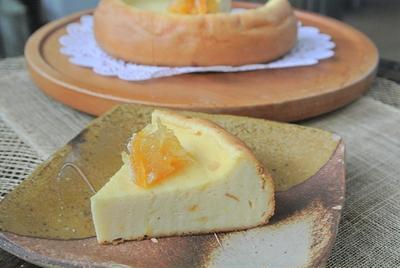 炊飯器で、柚子香るチーズケーキ