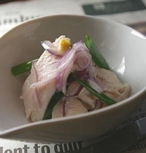 さっぱり蒸し鶏サラダ レモン生姜風味