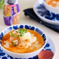 トムヤ厶クン風クリーム豆腐スープ【#スパイス大使#簡単 #おもてなし】