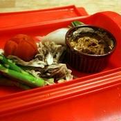 *ルクエで簡単♪カレーソースで食べる温野菜*