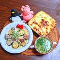 夏野菜を食すの巻 其の九  夏野菜のヨーグルトムサカとサルシッチャのクリームパスタ