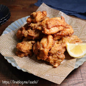 ■鶏もも肉の唐揚げ<br><br>「家族にも好評で、よく作る定番のおかずです。下味を付けるしょうゆな...