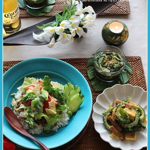 タコライス!と、沖縄料理の夜