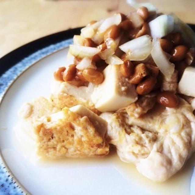 健康朝ごはん!玉子豆腐ぶっかけ納豆と木村菜園はじめました