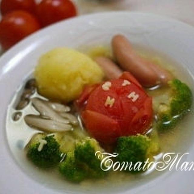 白だし香る丸ごとトマトの和風ポトフパスタ