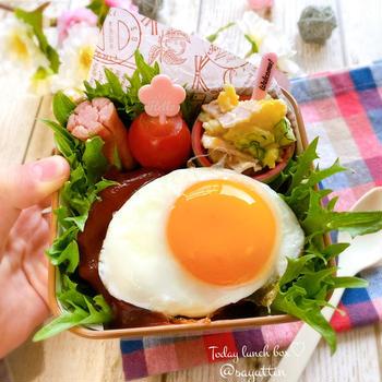 ロコモコ丼弁当~女子高校生のおべんとう♪