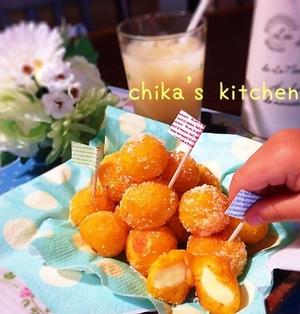 もっちもち♪チーズinポンデ風ひとくち野菜ドーナツ♡と反抗期?