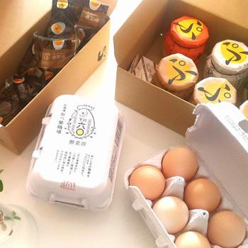 レモンイエローの黄身が印象的 酵素卵【あべ養鶏場】