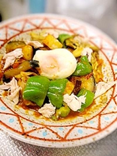 レンジで簡単☆夏野菜の冷製カレー
