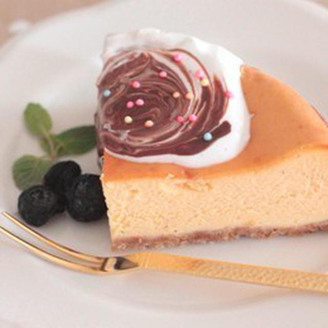 バニラ風味のベイクドチーズケーキ♪
