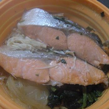 糖質制限★鮭のしょうゆ蒸し