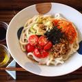 アボカドとキムチ納豆の混ぜ混ぜ冷やしうどん♪ by musashiさん