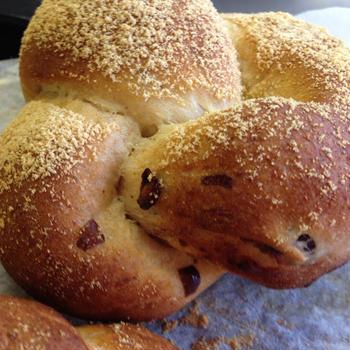 きな粉あずきパン作りました!