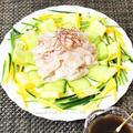 レシピ掲載ありがとうございます!柚子胡椒ダレdeズッキーニの冷しゃぶサラダ