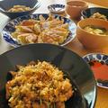 豚バラ豆苗炒飯とワンダーボックス