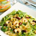 オレンジと海老と豆のマカロニサラダ