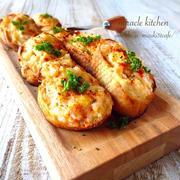 ♡トースターで簡単カフェデリ♡お洒落な海老パン♡【時短*おもてなし*魚介*オードブル*おつまみ】