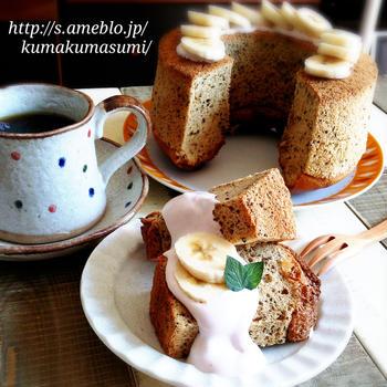 珈琲好きさんへ♡黒糖・コーヒーのふわしゅわシフォン♡