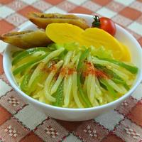 ご飯がススム、カレーなおかず、作り置きでお弁当に便利!もやしとピーマンのカレーナムル。