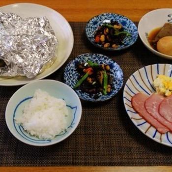 おやつも紹介☆豚肉と野菜のバターポン酢ホイル焼き♪☆☆♪♪