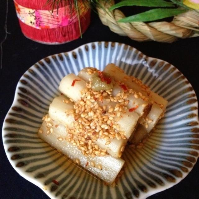 おせちレシピ*ゆず胡椒香る 酢ごぼう