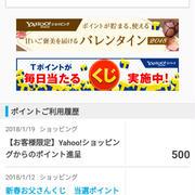 要チェック!Yahooショッピング☆期間限定500ポイントが付いてた