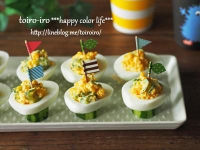 パーティーなどに★タマゴカップサラダ