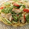 金目鯛と水菜のパスタ