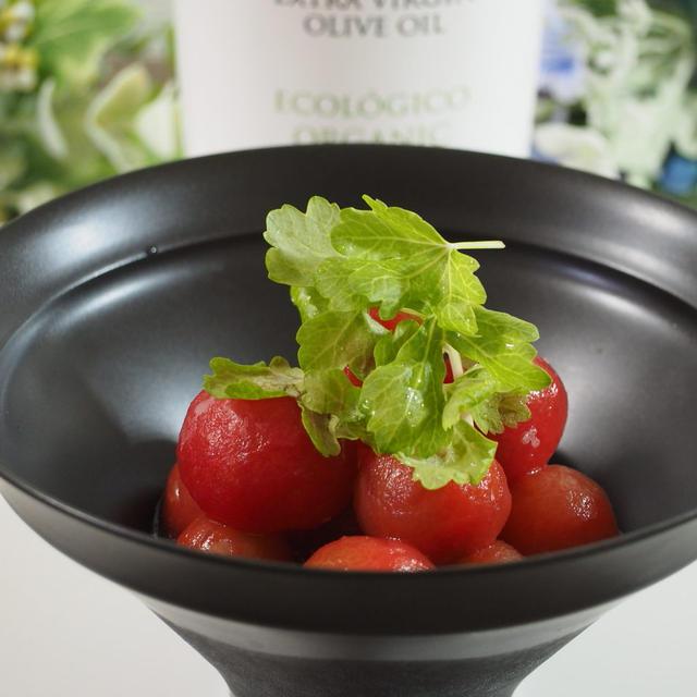 【レシピ】オリーブオイルかけてみた80プチトマトのハニーレモンマリネ