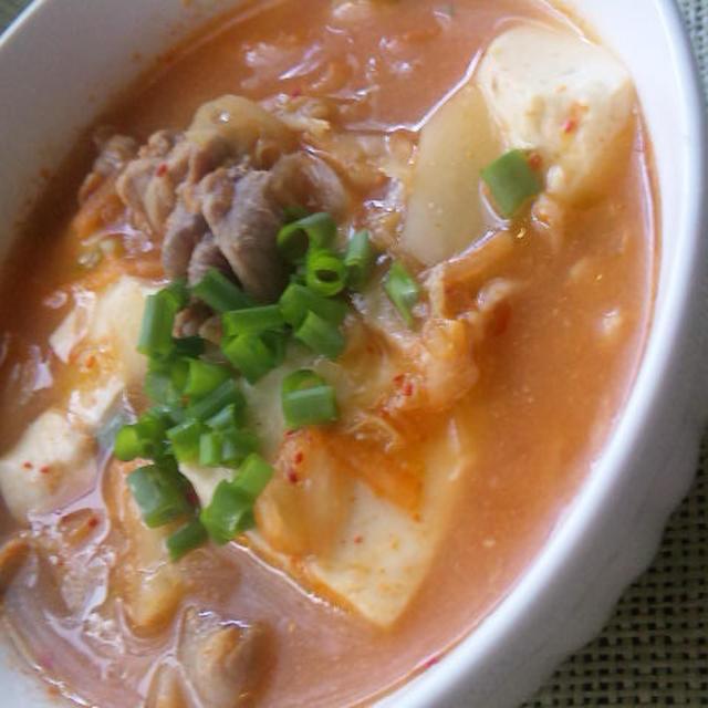 キムチ味噌スープ