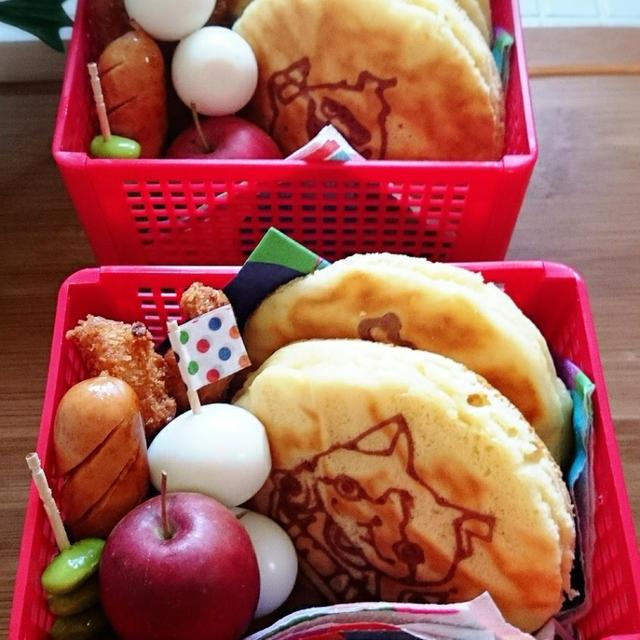 【キャラ弁】妖怪ウォッチ☆キャラホットケーキ弁当