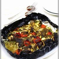 【黒ホイル】甘塩タラのマヨバジルソース包み焼き