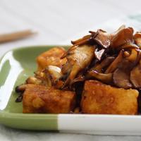 「ボーソー米油部」ヘルシーなのに美味しい!高野豆腐と舞茸のウスターソース炒め