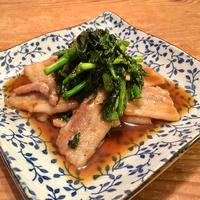 【男飯】豚バラと菜花の甘辛醬炒め