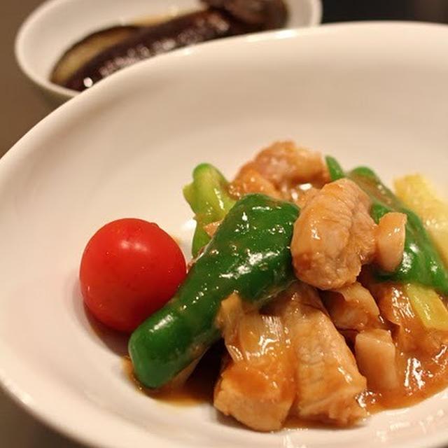 豚肉と彩り野菜の生姜焼き風